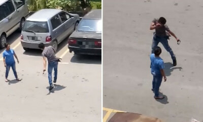 Watch: M'sian Man Rather Slap Himself HARD When Arguing With Wife Instead of Harming Her - WORLD OF BUZZ 3