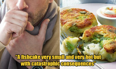 51yo Man Eats Fish Cake That Was Too Hot, Throat Swells Up & Chokes Him to Death - WORLD OF BUZZ 1