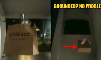 Watch: GrabFood Rider Was Requested to Use a Pulley System Because His Cus - WORLD OF BUZZ