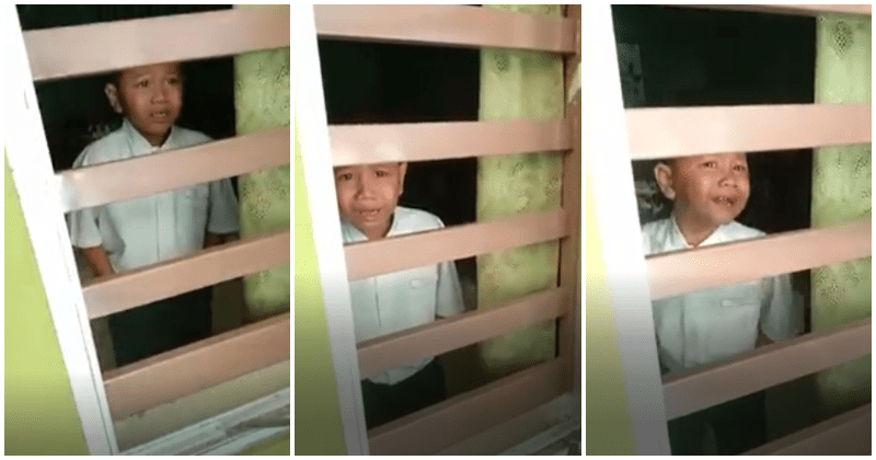 Watch: Little M'sian Boy Runs Home From School To Avoid Getting Injection, Refuses - WORLD OF BUZZ