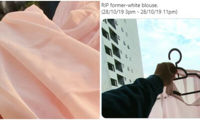 Adorable Husband Accidentally Made His Wife's NEW White Blouse Pink And Went Through Hell To Fix It - WORLD OF BUZZ 8