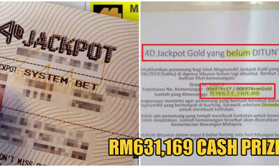 Are YOU The Winner Of This Unclaimed RM631,169 Lotto Prize In Kuching? - WORLD OF BUZZ 1
