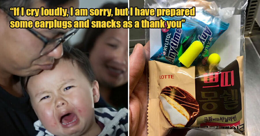 Family Boarding Plane With Baby Provides Passengers With Earplugs & Snacks Just in Case - WORLD OF BUZZ
