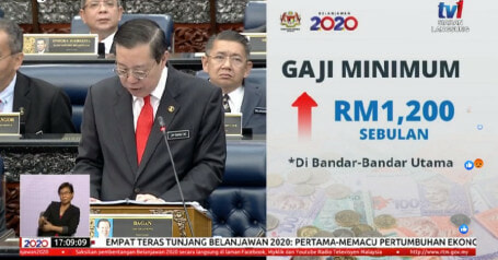 Budget 2020: Minimum Wage to Be Increased to RM1,200 in Major Cities - WORLD OF BUZZ