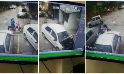 Car Battery Thief Manages To Steal Three Saga Batteries Within 10 Minutes! - WORLD OF BUZZ 3