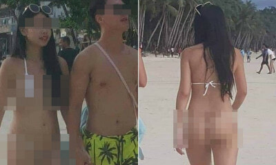 "Tourist Gets RM203 Fine For ""Lewd"" Photography After She Wore Skimpy ""String"" Bikini In Boracay - WORLD OF BUZZ"