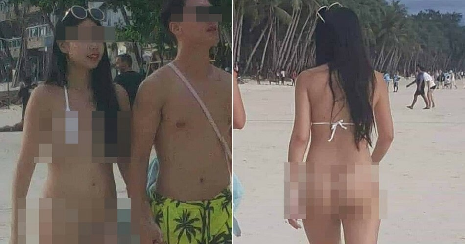 """Tourist Gets RM203 Fine For """"Lewd"""" Photography After She Wore Skimpy """"String"""" Bikini In Boracay - WORLD OF BUZZ"""