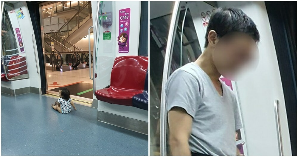 Father Lets Baby Sit On The Floor Near MRT Doors, Swears At Passenger Who Warns Him - WORLD OF BUZZ 4