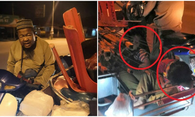 Filial Kids Sleep In Their Atuk's Sidecar In The Cold After Helping Out At Pasar Malam Stall - WORLD OF BUZZ