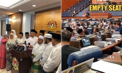Watch: Umno & PAS MPs Abruptly Left Before The #Budget2020 Was Even Over - WORLD OF BUZZ