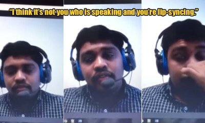 Watch: Man Kantoi After He Got Caught Lip-Syncing During A Skype Interview With Recruiter - WORLD OF BUZZ
