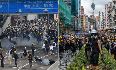 HK Protester Threatened M'sian Woman With A Hammer & Even Hit Her BF's Head - WORLD OF BUZZ