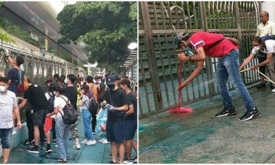 Hong Kong Civilian Felt Guilty And Unitedly Cleaned Up A Mosque After Spraying It With Blue Water Cannon - WORLD OF BUZZ 4