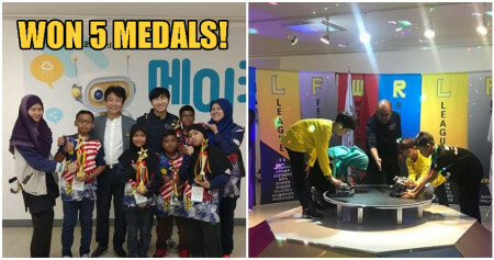 Incredible M'sian Primary Students Win 5 Medals At An International Robotics Competition In Korea - WORLD OF BUZZ