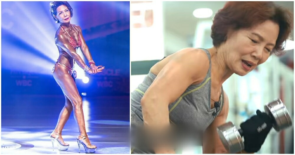 Inspiring 75yo Grandma Takes Up Weight-Lifting, Wins 2nd Place in Bodybuilding Competition - WORLD OF BUZZ 2