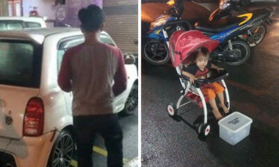 Irresponsible M'sian Parents Force Toddler to Beg in Penang to Pay Off Ah Long Debts - WORLD OF BUZZ 3