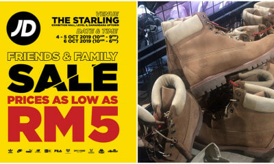 JD Is Having A Warehouse Sale At Starling Mall From Now Until 6th Oct with Prices Starting From RM5! - WORLD OF BUZZ