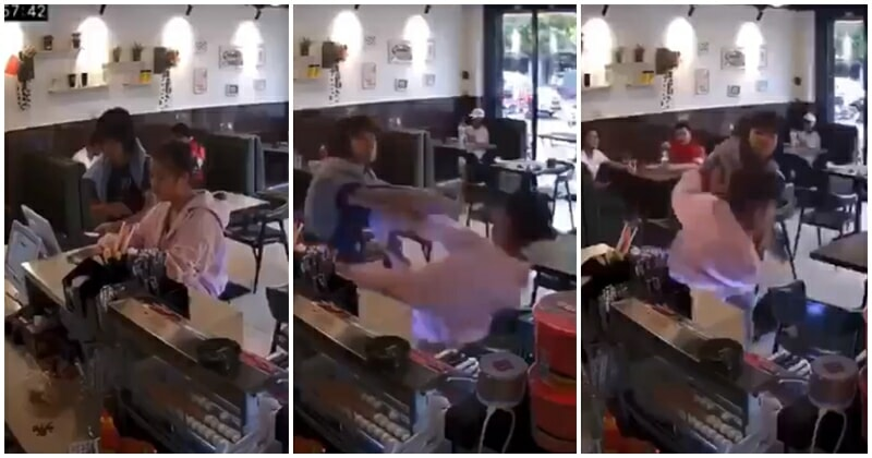 Lady Gets The Beating Of Her Life When She Decided To Jump Queue To Be Served - WORLD OF BUZZ 1