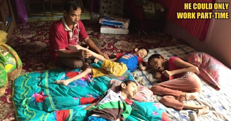 Loving Single Father from Kelantan Takes Care of Three Children with Cerebral Palsy - WORLD OF BUZZ 3
