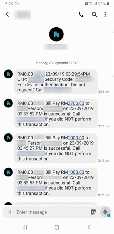 Malaysian Man Loses RM63K After Scammer Managed to Get His Money Without An OTP Code - WORLD OF BUZZ 4