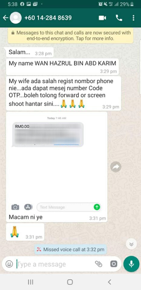 Malaysian Man Loses RM63K After Scammer Managed to Get His Money Without An OTP Code - WORLD OF BUZZ 5