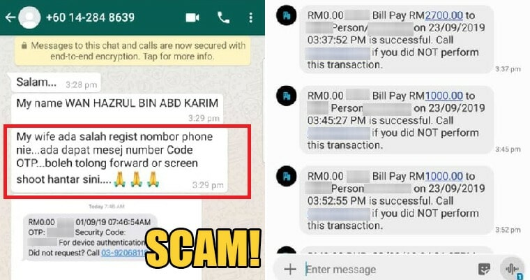 Malaysian Man Loses Rm63K After Scammer Managed To Get His Money Without An Otp Code - World Of Buzz 6