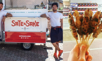 Malaysian Man Sells Satay in a Food Truck in Italy & 90% of His Customers are Italians - WORLD OF BUZZ 4
