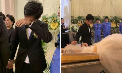 Man Fulfils Wife's Final Wish By Organising Wedding at Funeral After She Succumbs to Breast Cancer - WORLD OF BUZZ 4