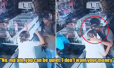 Man Kisses Old Woman on Forehead to Comfort Her While Robbing Her Store - WORLD OF BUZZ