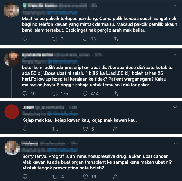 M'sian Twitter User Tries To Start A Crowdfund For Breast Cancer Mum, Netizens Suspicious That He Might Be A Scammer! - WORLD OF BUZZ 3