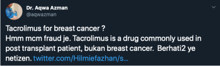 M'sian Twitter User Tries To Start A Crowdfund For Breast Cancer Mum, Netizens Suspicious That He Might Be A Scammer! - WORLD OF BUZZ 4