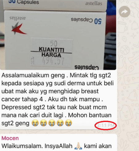 M'sian Twitter User Tries To Start A Crowdfund For Breast Cancer Mum, Netizens Suspicious That He Might Be A Scammer! - WORLD OF BUZZ 5