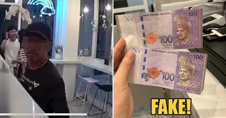 M'sians Warned to Be Alert As Man Scams Beverage Shop Using Fake RM100 in Georgetown - WORLD OF BUZZ 1