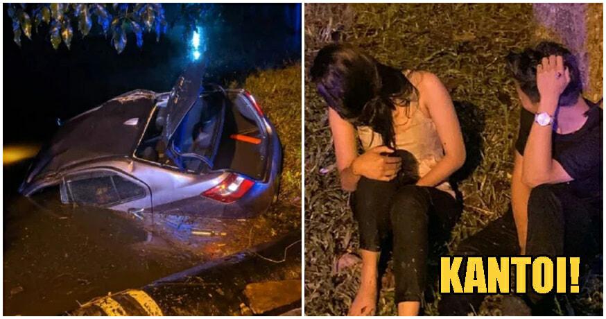 Penang Couple Caught Having Sex In Car Crashes Into Longkang Trying To Escape Police - WORLD OF BUZZ