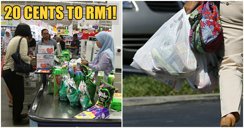 Penang To Increase Plastic Bag Price In Supermarkets to RM1 To Stop Single Use Plastics From 2021 - WORLD OF BUZZ