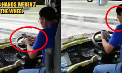 Reckless Perak Bus Driver Speeds on the Fast Lane While Using the Phone with BOTH HANDS - WORLD OF BUZZ 1
