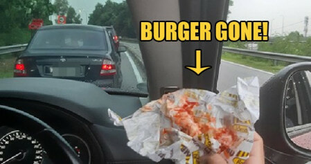 """Serdang Man Shocked After """"hamburglars"""" Snatched Burger From His Hand During Traffic Jam - World Of Buzz"""