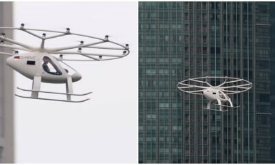 SG Is Already Testing A Working Prototype Of The Futuristic Flying Taxi At Marina Bay - WORLD OF BUZZ
