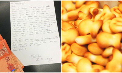 So Cute! This Malaysian Teen Sent An Apology Letter and RM30 for Stealing 'Fish Biscuits' 6 Years Ago - WORLD OF BUZZ