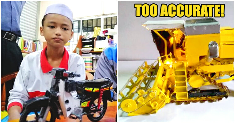 talented siblings created realistic vehicle models from just cardboards and waste materials - WORLD OF BUZZ 2