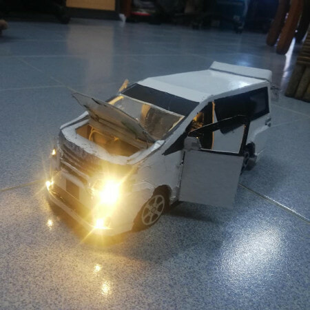 talented siblings created realistic vehicle models from just cardboards and waste materials - WORLD OF BUZZ