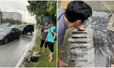 These Good-Willed M'sians Helped Ease A Flood At Jalan Genting By Removing Drain Covers! - WORLD OF BUZZ 3