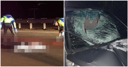 Unidentified Man Gets Run Over & Torn Apart By Oncoming Traffic On PLUS Highway - WORLD OF BUZZ 1