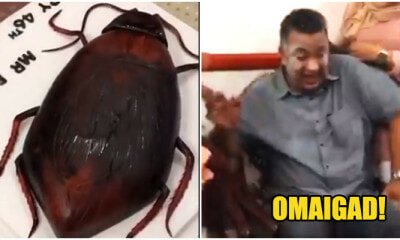 Video: Father Had A Mini Heart Attack When Surprised With A Realistic Cockroach Cake For Birthday - WORLD OF BUZZ