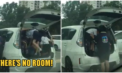 Video: M'sian Woman Endangers Lives As She Squeezes 3 Boys & Their Bags Into Her Car Boot - WORLD OF BUZZ