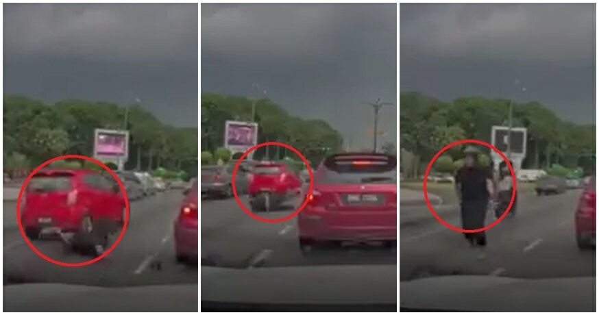 Video: Perodua Axia Causes Accident & Almost DRIVES OVER Motorcyclist In Shah Alam, Then Escapes - WORLD OF BUZZ