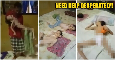 Video: Single Kelantanese Father Took Care Of All Three Of His Bedridden Children Brought Netizen To Tears - WORLD OF BUZZ