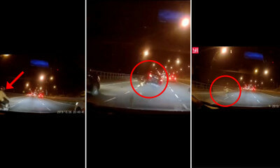 Video: This Motorcyclist in M'sia is So Lucky to Survive a Horrific Car Crash That Could've Killed Him - WORLD OF BUZZ