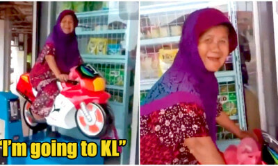 Watch: Adorable Elderly Makcik Enjoying Her 'Trip' To KL On A Kiddie Ride - WORLD OF BUZZ 9