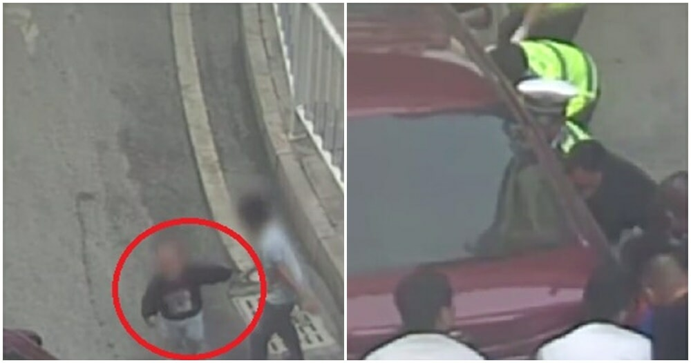 Watch: Boy Slaps Two-Year-Old Brother Into Oncoming Traffic, Gets Trapped Under The Car - WORLD OF BUZZ 1
